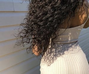 body, curly, and curly hair image