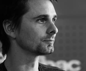 black and white, chris, and matthew bellamy image