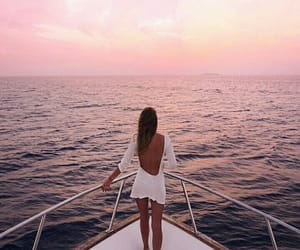 boat, fashion, and ocean image