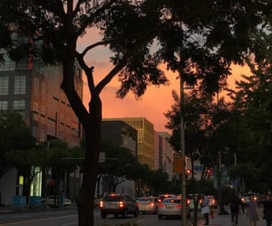 sunset, city, and aesthetic image