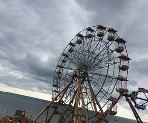 big wheel, sky, and fair image