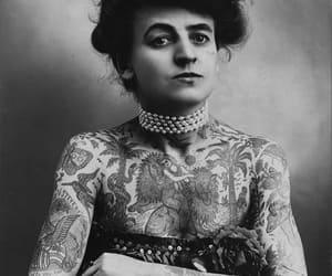 artist, female, and tattoo image