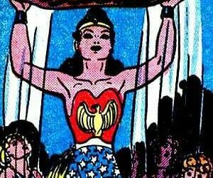 wonder woman, girl power, and comic image