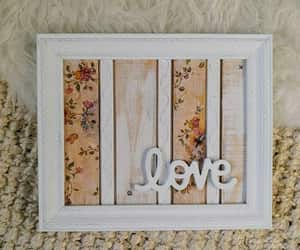 wedding sign, framed love sign, and rustic wood sign image