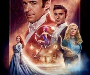 hugh jackman, michelle williams, and movie image