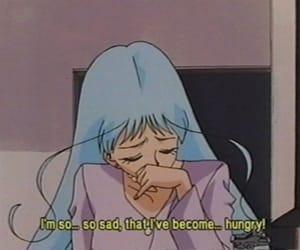 anime, sad, and hungry image