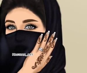 henna, hennè, and abaya image