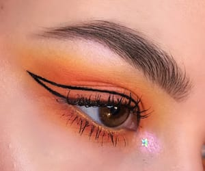 makeup, orange, and aesthetic image