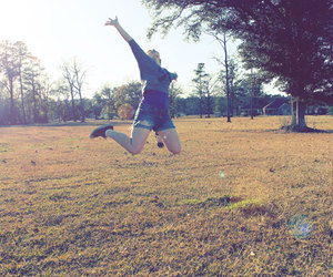 joy, leap, and summer image