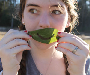 humor, leaf, and potrait image
