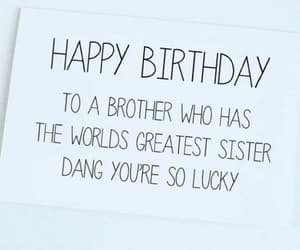 birthday, present, and brother image