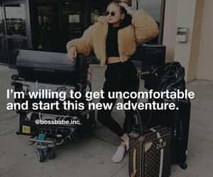 adventure, ambition, and suitcases image