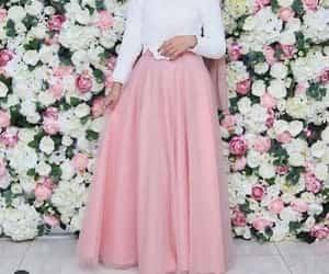 hijab and chiffon maxi skirt image