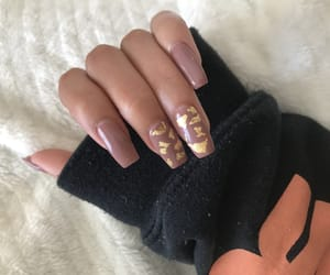 acrylics, gold, and inspo image