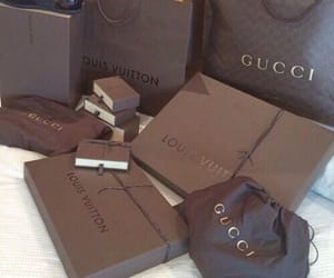 gucci, Louis Vuitton, and luxury image