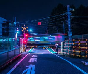 blue, japan, and train image