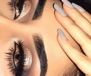 aesthetic, nails, and makeup image