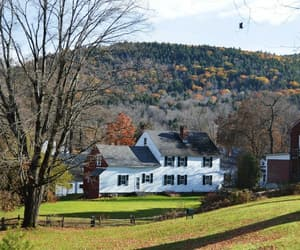 country living, vermont, and farm image