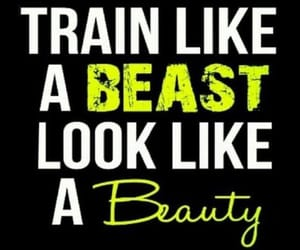 beauty, fitness, and quote image