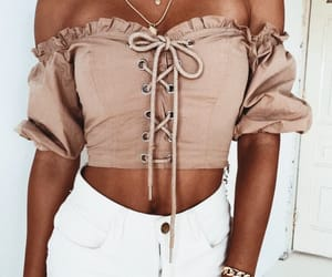 fashion, off the shoulder, and outfit image