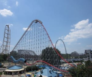 amusement, rides, and amusement park image