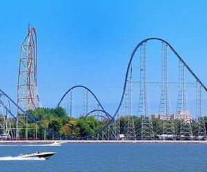 amusement park, pretty, and theme park image