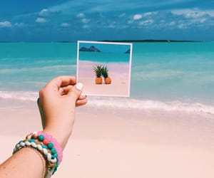 beach, pineapple, and ocean image