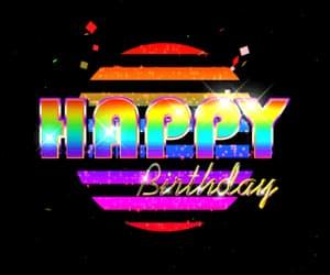 bunt, happy birthday, and neon image