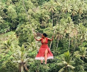 rainforest, paradise vacation, and summer outfit image