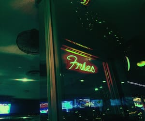 edited, fries, and lights image