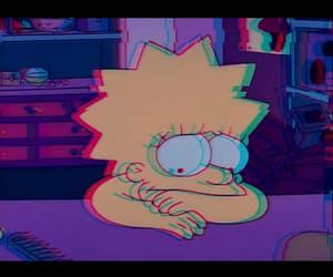 depressed, glitch, and lisa simpson image