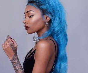 blue hair, hair color, and black girl magic image