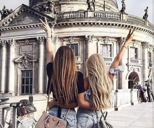 blonde, friendship, and brown image