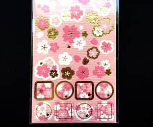 cherry blossoms, flowers, and japanese paper image