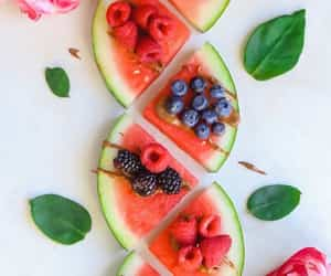 food, fruit, and pasteque image