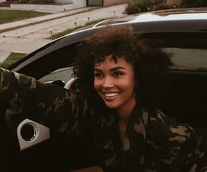 black girl, curly, and style image