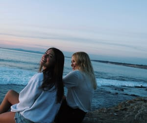 beach, california, and happiness image