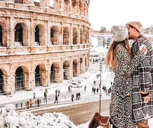 italy, snow, and winter image