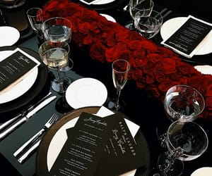 rose, flowers, and food image