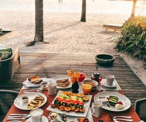 bali, fruit, and beach image