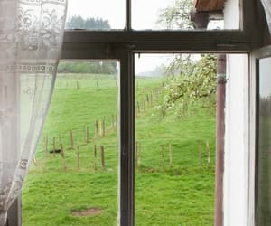 countryside, house, and window image