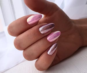 art, pink, and manicure image