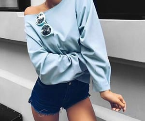 blue, look, and fashion image