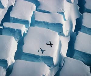 aerial photography, glaciers, and ice image