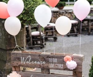 balloons, diy, and wedding image