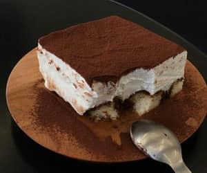 food, tiramisu, and cake image