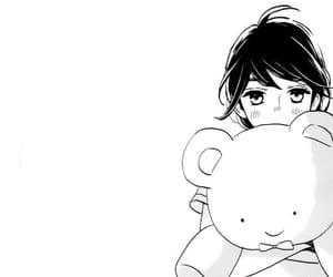 manga black and white image