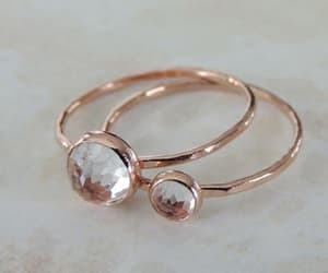 nails, rings, and rose gold image