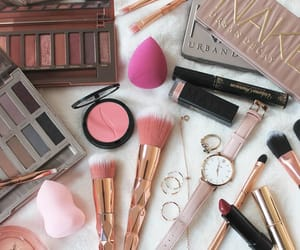 beauty, eye shadows, and lipstick image