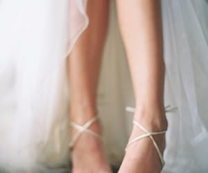 lace, bridal, and heels image
